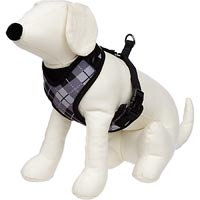 Petco Adjustable Mesh Harness for Dogs in Black & Gray Argyle Print
