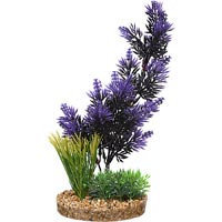 Petco Purple & Black Pacifica Plant Plastic Aquarium Plant (4.5