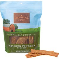 American Jerky Hip & Joint Support Chicken Tenders Dog Treats, 1 lb.