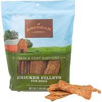 American Jerky Skin & Coat Support Chicken Fillets Dog Treats, 16 oz.