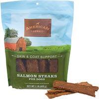 American Jerky Skin & Coat Support Salmon Steaks Dog Treats, 16 oz.