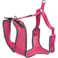 Petco Adjustable Mesh Harness for Big and Tall Dogs in Pink with Polka Dots, Medium