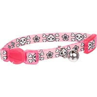 Petco Nylon Adjustable Skulls Kitten Collar in Pink, For Necks up to 8