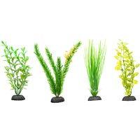 Petco Green Plastic Aquarium Plants Midground Value Pack