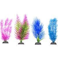 Petco Colorful Plastic Aquarium Plants Midground Value Pack