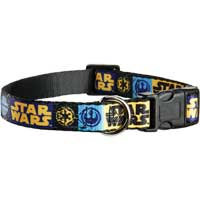 STAR WARS Logo Adjustable Dog Collar, For Necks 9 -14