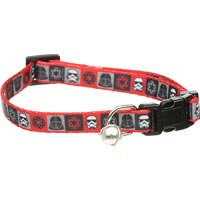 STAR WARS Darth Vader Break-Away Cat Collar, For Necks 8 -12