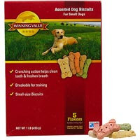 Winning Value Assorted Small Dog Biscuits, 16 oz.