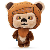 STAR WARS Ewok Big Head Plush Dog Toy, 10 L X 5 W