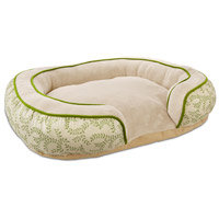 Petco Tranquil Cuddler Dog Bed with Vine Pattern Bed, 32 L X 24 W X 7 H
