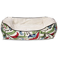 Petco Made for Me Brown Floral Nester Duvet Dog Bed Cover