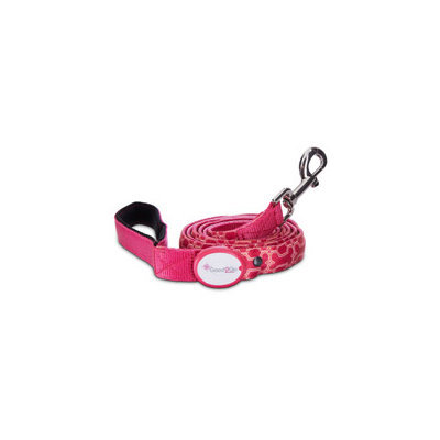 Good2Go Geometric Pink & Orange Bone Print Light-Up LED Dog Lead, 6' L X 1 W