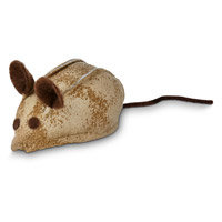 Leaps & Bounds Faux Leather Mouse Cat Toy with Rattle & Catnip, 3 L X 1.5 W