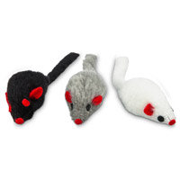 Leaps & Bounds Fuzzy Mice Cat Toys with Catnip, Pack of 3 toys