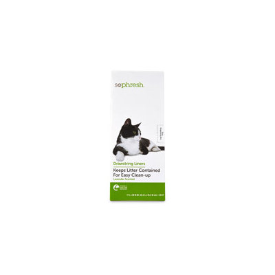So Phresh Lavender Scented Litter Box Liners, 20 count, 17 L X 30 W