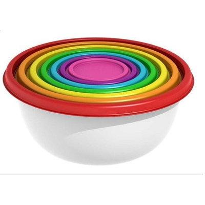 Mainstays Round Rainbow Food Storage Set, 14 pc