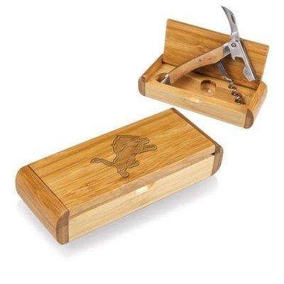 Picnic Time NFL Elan Bamboo Corkscrew - Detroit Lions Engraved