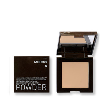 KORRES Wild Rose Compact Powder Brightening/Flawless Finish