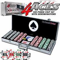 Trademark Poker 4 Aces 500 11.5g Poker Chip Set w/ Aluminum Case