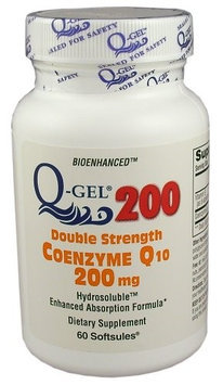 Tishcon Corp Q-Gel Double Strength Hydrosoluble Coenzyme Q10 200mg 60ct.