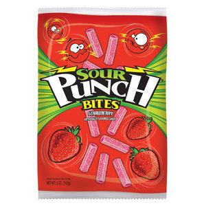 Sour Punch Bites Strikin' Strawberry