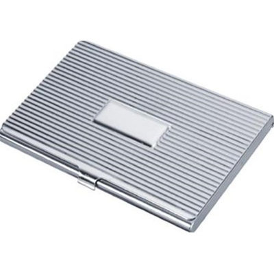 Visol V100B Asset Stainless Steel Business Card Case