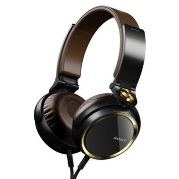 Sony On-the-Ear Headphones Extra Bass - Black/Gold (MDRXB600)