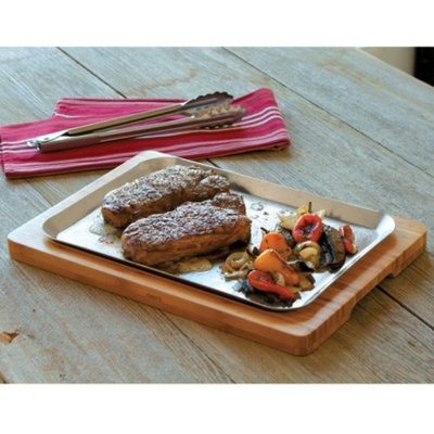 CHEFS Sizzle Tray with Stainless-Steel Platter