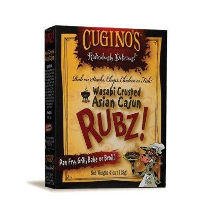 Cuginos Cugino's Gourmet Foods, Ridiculously Delicious RUBZ!, Wasabi Crusted Asian Cajun Rub, 4-Ounce Box (Pack of 6)