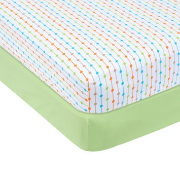 Garanimals Set of 2 Full-Size Fitted Crib Sheets, Green