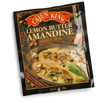 Cajun King Lemon Butter Amandine Seasoning Mix, 1-Ounce Packages (Pack of 24)