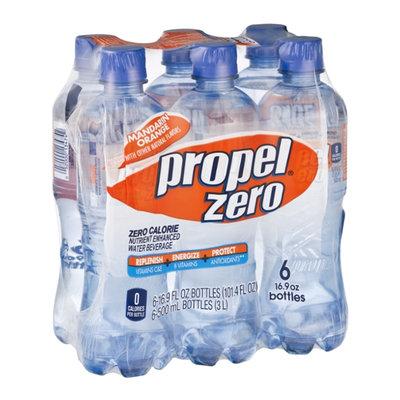 Propel Zero Water Beverage Nutrient Enhanced Zero Calorie Mandarin Orange - 6 PK