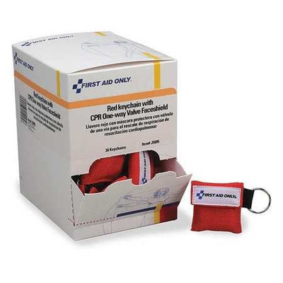 First Aid Only CPR Faceshield with Chain (5-3/4 in L). Model: J5095GR