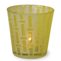 Boston International Glass Tealight, Aqua (Set of 4)