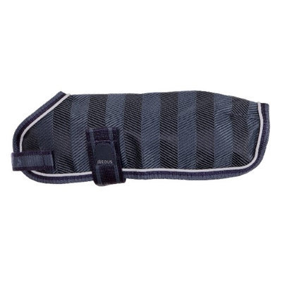 EOUS Waterproof Dog Rainsheet Small Navy Herringbone