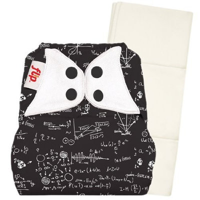 Flip Individual: 1 One-Size Snap Closure Diaper Cover & 1 One-Size Organic Insert - Moonbeam