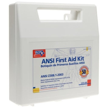 First Aid Only 50 Person Bulk First Aid Kit, Ansi, 196-Piece Kit