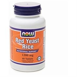 NOW Foods Red Yeast Rice 1200mg, 60 ea