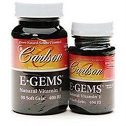 Carlson Laboratories E-Gems 90+44 400 IU - 134 Softgels - Vitamin E Complex
