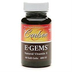 Carlson Laboratories E-Gems (Natural Vitamin E) 400 IU - 60 Softgels - Vitamin E D'Alpha