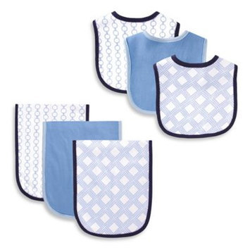 Baby Vision Hudson Baby 6 Piece Bib and Burp Cloth Set - Link