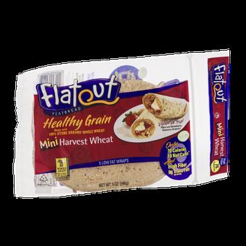 Flatout Flatbread Healthy Grain Wraps Mini Harvest Wheat - 5 CT