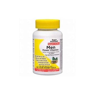 Super Nutrition - Simply One Men Multivitamin - 90 Vegetarian Tablets