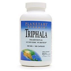 Planetary Formulations Triphala Internal Cleanser 500mg by Planetary Herbals - 180 Capsules