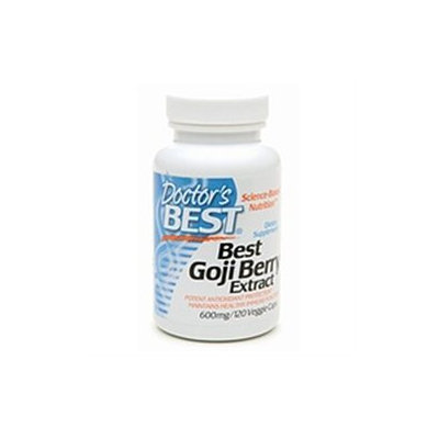 Doctor's Best Goji Berry Extract, 600mg, Veggie Caps, 120 ea