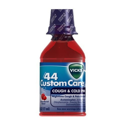 Vicks Formula 44 Custom Care Cough & Cold Pm Berry Burst Flavor Liquid