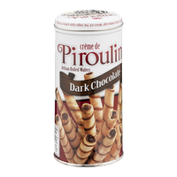Creme De Pirouline Artisan Rolled Wafers Dark Chocolate