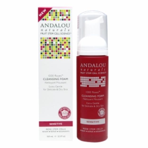 Andalou Naturals 1000 Roses Cleansing Foam, 5.5 fl oz