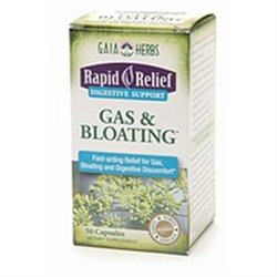 Gaia Herbs Rapid Relief Gas & Bloating, Capsules