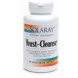Solaray - Yeast-Cleanse - 90 Vegetarian Capsules